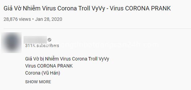 Giả vờ nhiễm virus corona để làm YouTube: Trào lưu phản cảm nhen nhóm bởi một số vlogger Việt - Ảnh 2.