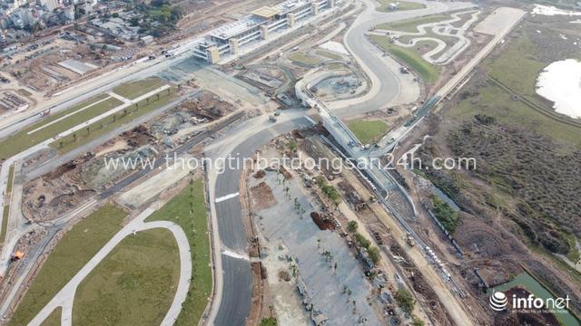 Toàn cảnh đường đua F1 tại Hà Nội từ trên cao, đang trong quá trình hoàn thiện - Ảnh 1.