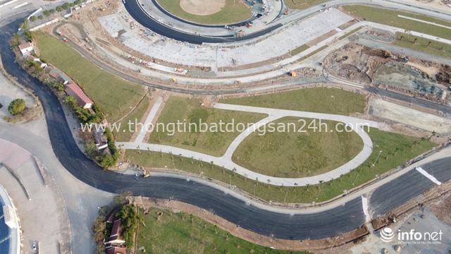 Toàn cảnh đường đua F1 tại Hà Nội từ trên cao, đang trong quá trình hoàn thiện - Ảnh 2.