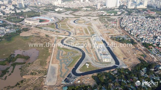 Toàn cảnh đường đua F1 tại Hà Nội từ trên cao, đang trong quá trình hoàn thiện - Ảnh 3.