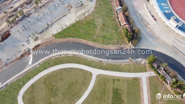 Toàn cảnh đường đua F1 tại Hà Nội từ trên cao, đang trong quá trình hoàn thiện - Ảnh 4.