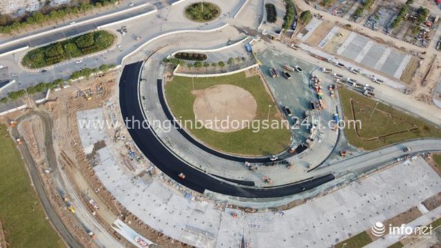 Toàn cảnh đường đua F1 tại Hà Nội từ trên cao, đang trong quá trình hoàn thiện - Ảnh 5.