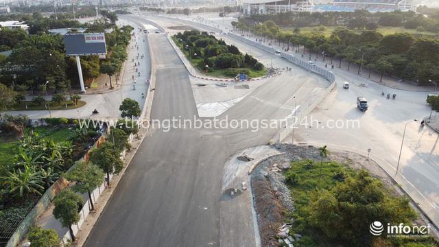 Toàn cảnh đường đua F1 tại Hà Nội từ trên cao, đang trong quá trình hoàn thiện - Ảnh 6.