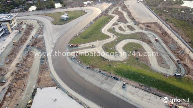 Toàn cảnh đường đua F1 tại Hà Nội từ trên cao, đang trong quá trình hoàn thiện - Ảnh 10.
