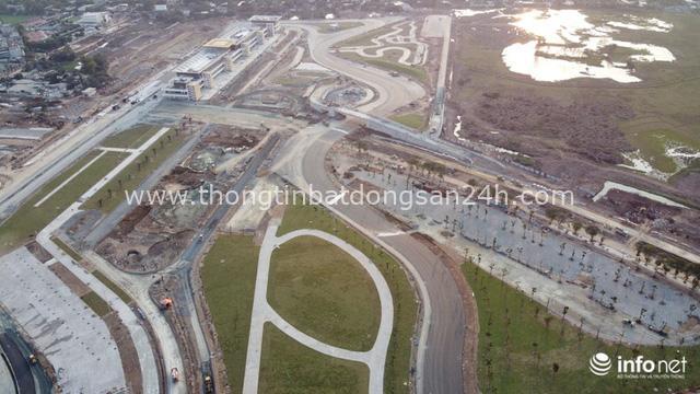 Toàn cảnh đường đua F1 tại Hà Nội từ trên cao, đang trong quá trình hoàn thiện - Ảnh 11.