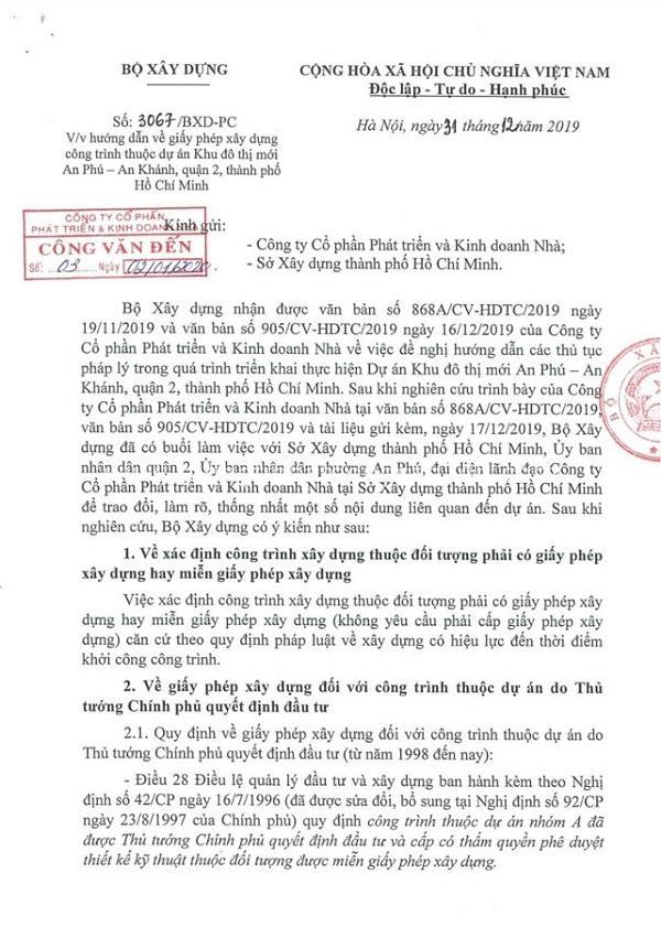 Gỡ vướng cho dự án Khu đô thị An Phú-An Khánh 2
