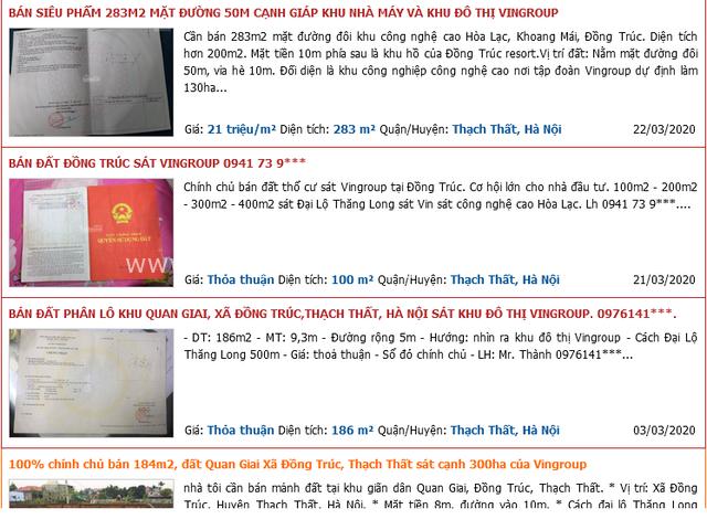Sốt đất ảo náo loạn Thạch Thất (Hà Nội), kịch bản tương tự cơn sốt đất tại Bà Rịa - Vũng Tàu cách đây 1 tháng? - Ảnh 1.