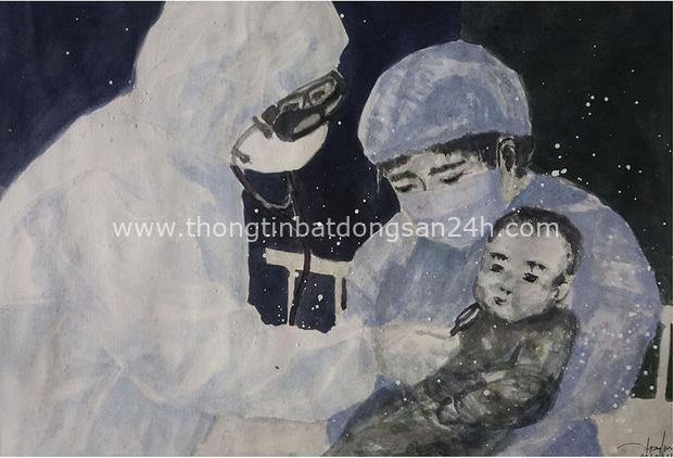 Chùm tranh siêu đẹp mùa dịch: Từ y bác sĩ ăn tranh thủ, ngủ vật vờ đến chiến sĩ làm việc ở khu cách ly - Ảnh 14.
