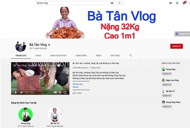 Bà Tân và Hưng Vlog từ một kênh nổi tiếng với những món siêu to khổng lồ ngày càng sa sút, có khi thành nơi hứng gạch đá đủ để... xây nhà - Ảnh 1.