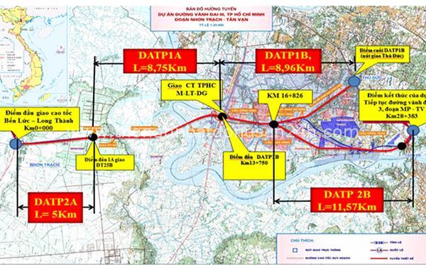 Đề xuất đầu tư 6.660 tỷ đồng xây 16 km đường vành đai 3 TP HCM đoạn Tân Vạn - Nhơn Trạch 3