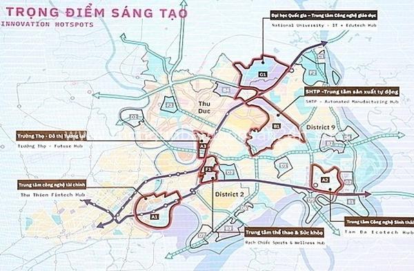 Đề xuất quy hoạch lại 3 khu vực ở Khu đô thị sáng tạo 4