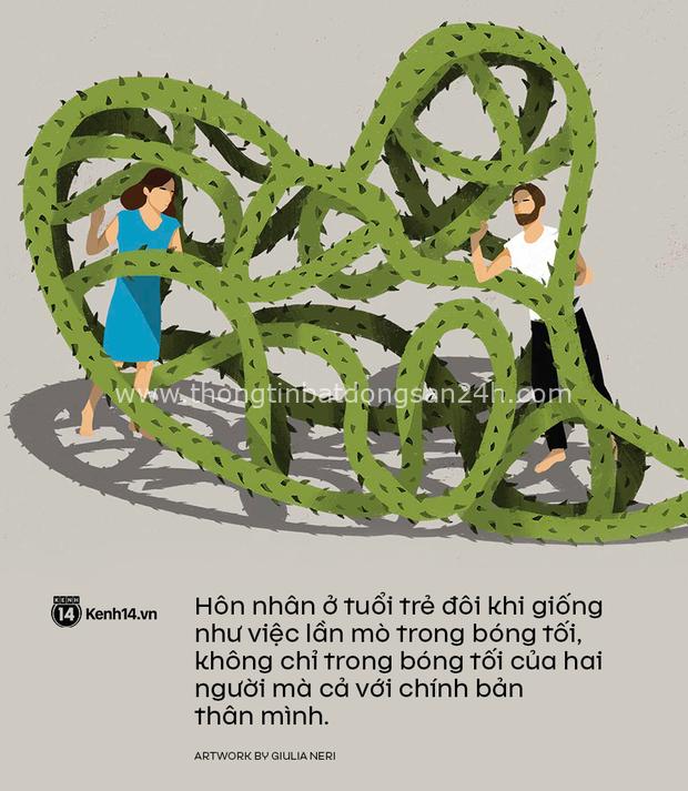 Hôn nhân tuổi trẻ giống như lần mò trong bóng tối: Đừng sợ ế, hãy sợ mình làm sai! - Ảnh 2.