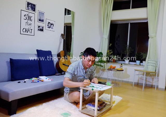 Nam du học sinh Nhật tự tay cải tạo phòng trọ xịn sò như homestay chính hiệu, nhưng xúc động nhất là nơi lưu giữ di ảnh của ba má - Ảnh 7.