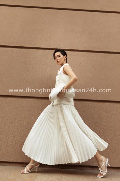 Ba fashionista đình đám biến hoá trong trang phục trắng tinh khiết của NTK Công Trí - Ảnh 8.
