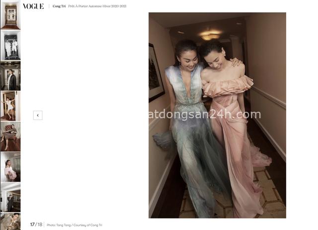 Đẹp ná thở trên Vogue Pháp, Thanh Hằng và Hồ Ngọc Hà đẳng cấp trong trang phục của Công Trí: Tinh hoa hội tụ là đây! - Ảnh 3.