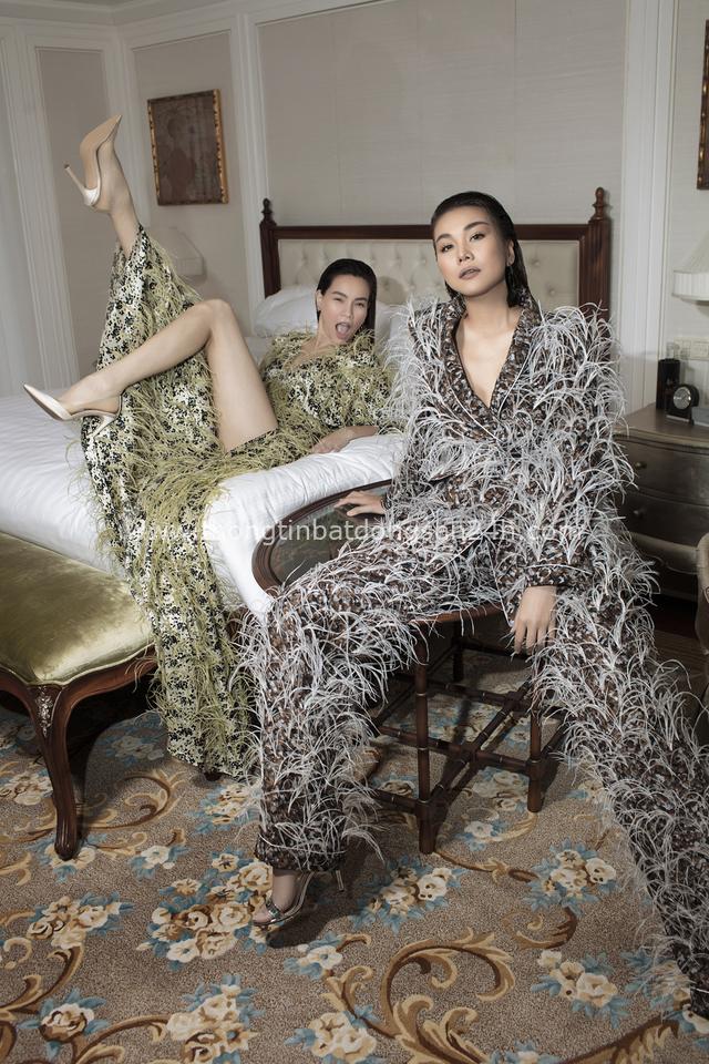 Đẹp ná thở trên Vogue Pháp, Thanh Hằng và Hồ Ngọc Hà đẳng cấp trong trang phục của Công Trí: Tinh hoa hội tụ là đây! - Ảnh 5.