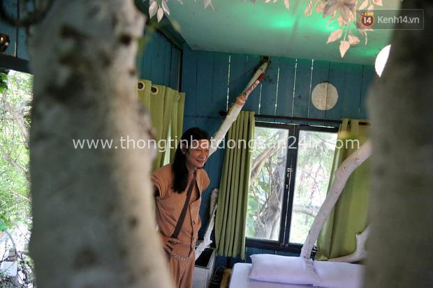 Ngay Hà Nội có một căn nhà cheo leo trên đỉnh ngọn cây của người họa sĩ 61 tuổi: Gần 20 năm trồng và đợi cây lớn - Ảnh 8.