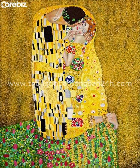 Tuyệt phẩm Nụ hôn của Gustav Klimt: Tình yêu thanh thản và mê say - Ảnh 1.
