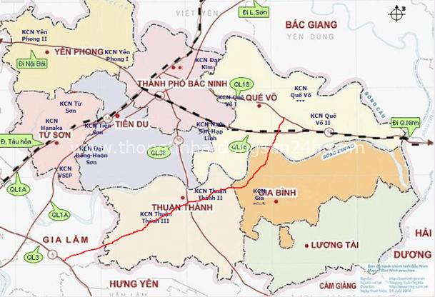 """Thị trường BĐS Bắc Ninh hưởng lợi từ làn sóng bất động sản (BĐS) công nghiệp, với sự đổ bộ của nhiều """"ông lớn""""."""