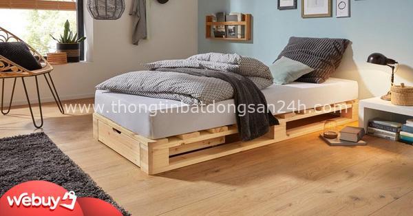 """Làm mới phòng ngủ với muôn kiểu giường pallet xinh độc lạ, được nhiều chị em """"nghiện nhà"""" chọn lựa 8"""