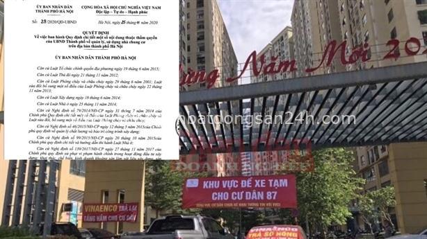 Hà Nội ban hành quy chế quản lý chung cư riêng 7