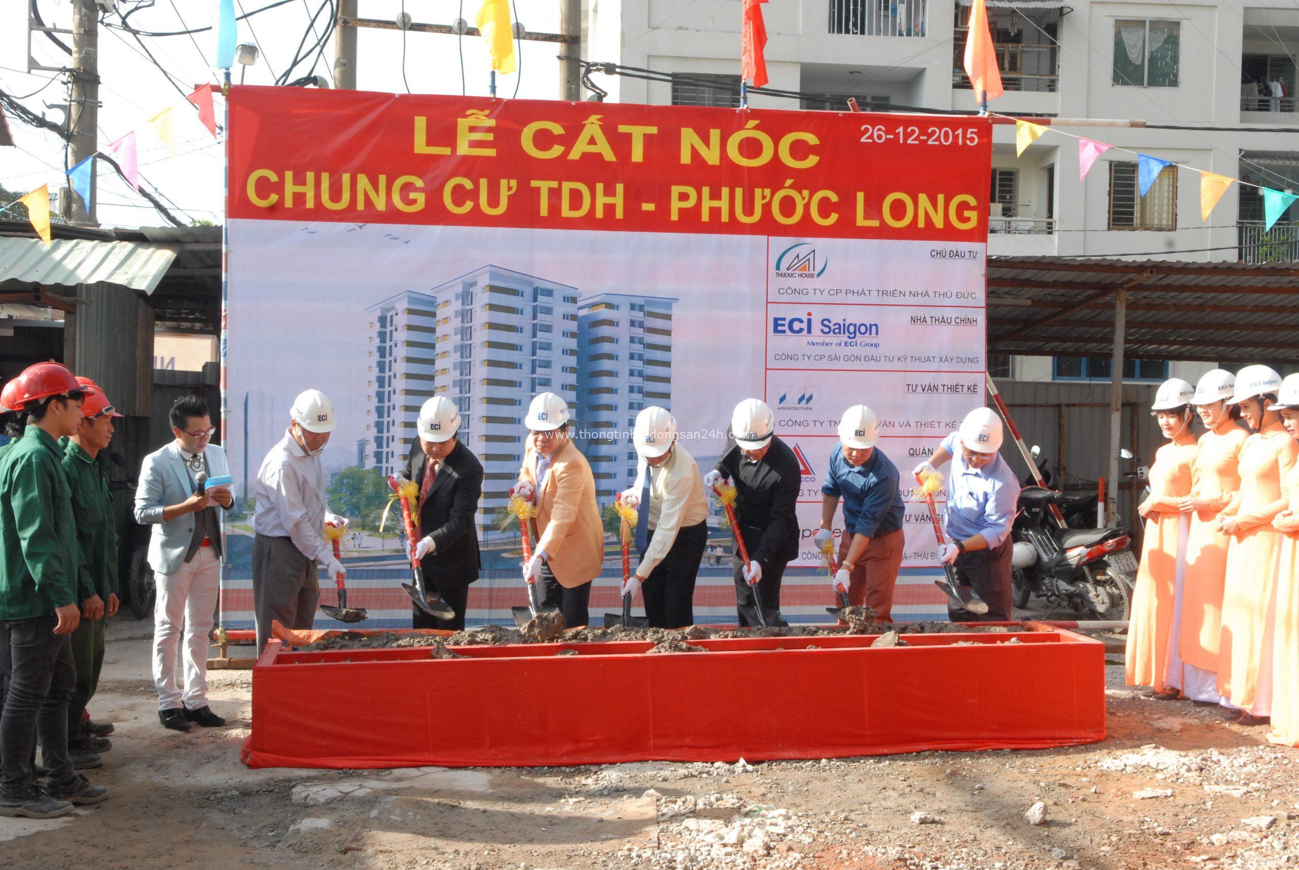 Thuduc House cất nóc chung cư TDH-Phước Long 4