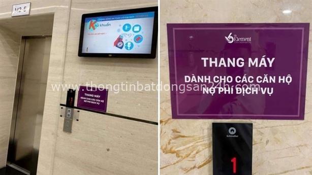 'Thang máy dành cho các căn hộ nợ phí dịch vụ' 2